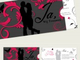 silhouet persoonlijke trouwkaart