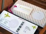 trouwkaart boardingpass voorbeeld